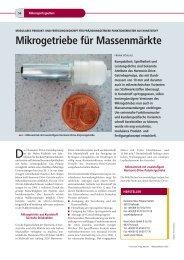 Mikrogetriebe für Massenmärkte - Harmonic Drive AG