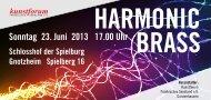 Sonntag 23. Juni 2013 17.00 Uhr - Harmonic Brass München