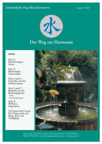 Ausgabe 01.2006 - Harmonie.li