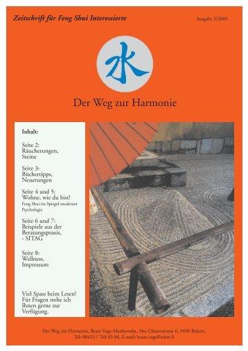 Wie zur Harmonie