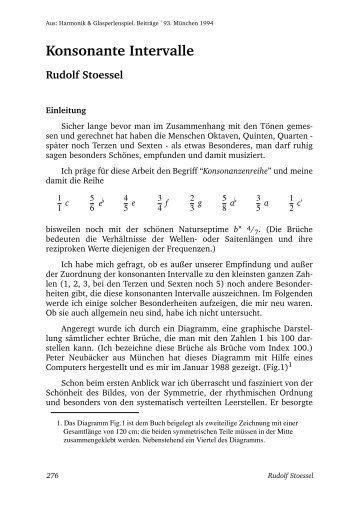 Konsonante Intervalle - Harmonik und Glasperlenspiel