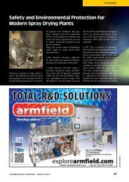 Safety and Environmental Protection for Modern Spray Drying Plants
