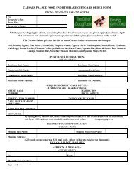 caesars palace food and beverage gift card order form