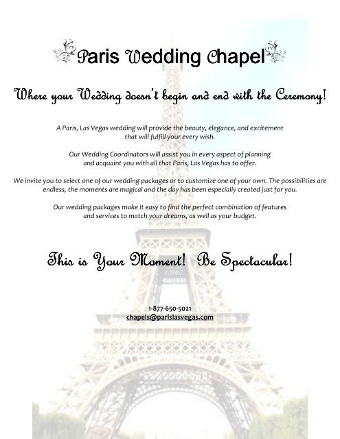 Paris Wedding Chapel This Is Your Moment Be Caesars