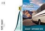 VIP BUS SCHEDULE - Harrah's