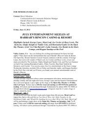 july entertainment sizzles at harrah's rincon casino & resort