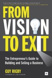 Read a PDF Sample of From Vision to Exit - Harriman House