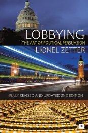 Read a PDF Sample of Lobbying - Harriman House