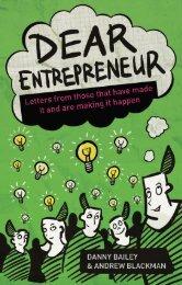 Read a PDF Sample of Dear Entrepreneur - Harriman House