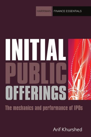 Read a PDF Sample of Initial Public Offerings - Harriman House