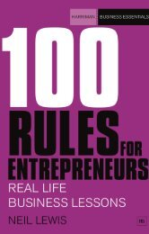 Read a PDF Sample of 100 Rules For ... - Harriman House