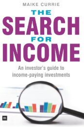 Read a PDF Sample of The Search for Income - Harriman House