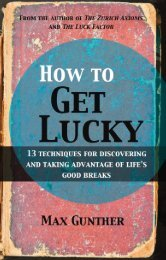 Read a PDF Sample of How to Get Lucky - Harriman House