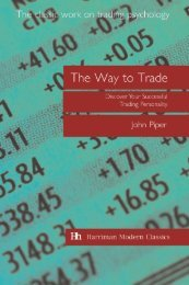 Read a PDF Sample of The Way to Trade - Harriman House