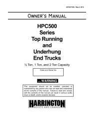 HPC500 Series Top Running and Underhung End Trucks