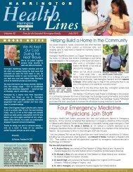 Four Emergency Medicine Physicians Join Staff - Harrington ...