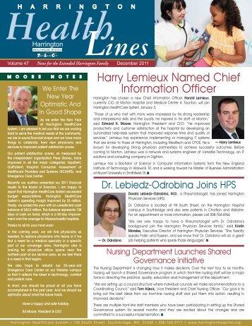 HHS news_12_11r - Harrington Memorial Hospital