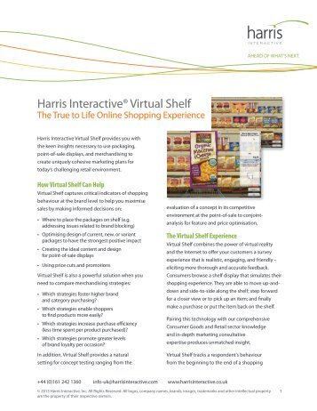 Virtual Shelf - the true to life online shopping ... - Harris Interactive