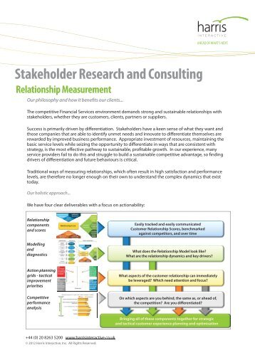 Stakeholder Research and Consulting - Harris Interactive