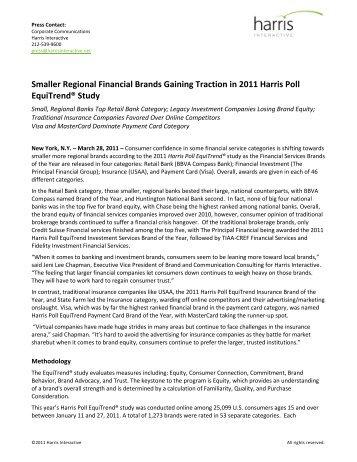 Smaller Regional Financial Brands Gaining ... - Harris Interactive