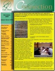 Issue - Har Sinai Congregation