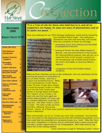 Issue - Har Sinai Congregation