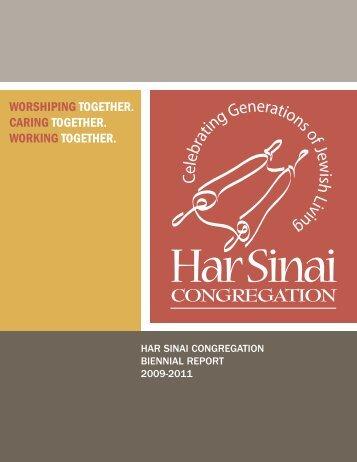 2009-2011 Biennial Report - Har Sinai Congregation