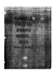 Tarbell Z80 CPU Board Model 330 - Harte Technologies