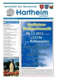 Gemeindeblatt 2013 KW48 - Gemeinde Hartheim