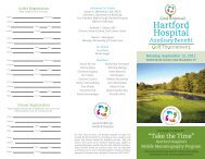 22nd Annual Hartford Hospital Auxiliary Benefit Golf Tournament ...