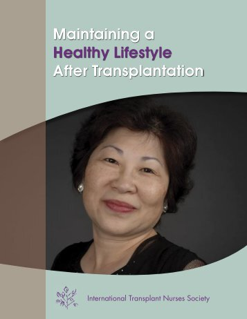 Maintaining a Healthy Lifestyle After Transplantation