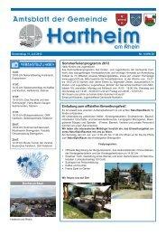 Gemeindeblatt 2013 KW28 - Gemeinde Hartheim