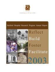 Reflect Build Foster Facilitate - Hartford Hospital!