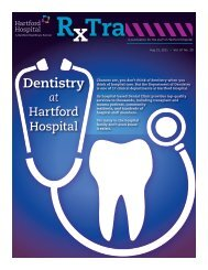 Rxtra - A publication for the staff of Hartford Hospital, Aug. 15, 2011