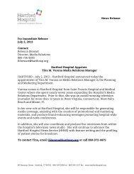 Hartford Hospital Appoints Tina M. Varona Media Relations Manager