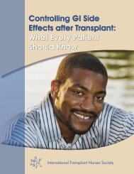 Controlling GI Side Effects after Transplant: What Every Patient ...