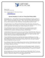 Hartford Healthcare Unveils New Wethersfield ... - Hartford Hospital!