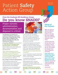 Patient Safety Action Group (PSAG) Newsletter ... - Hartford Hospital!