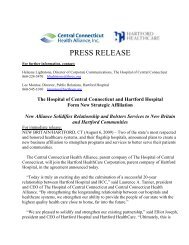 PRESS RELEASE: HOCC/HHC Agreement - 8/6 ... - Hartford Hospital!