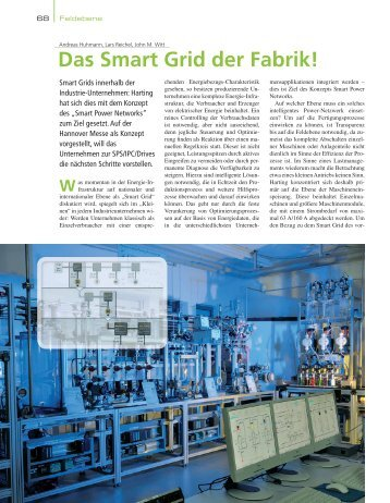 Das Smart Grid der Fabrik! - HARTING Technologiegruppe