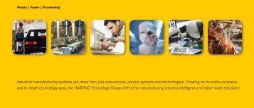 Industrial manufacturing systems are more than just ... - Harting