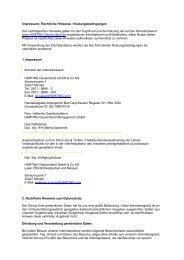 Impressum / Rechtliche Hinweise / Nutzungsbedingungen ... - Harting