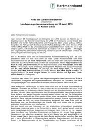 Rede der Landesvorsitzenden anl. LDV 2013 - Hartmannbund