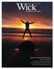 The Dynamic Student Scholarship - Hartwick College