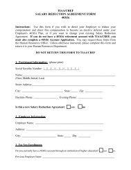 TIAA/CREF SALARY REDUCTION AGREEMENT FORM 403(b)