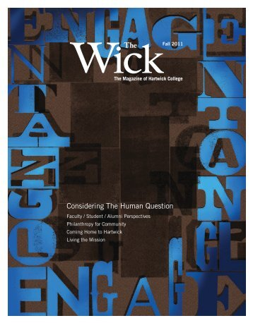 Considering The Human Question The - Hartwick College