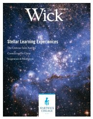 Stellar Learning Experiences - Hartwick College