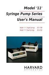 Model 11 Syringe Pump Series Manual - Harvard Apparatus