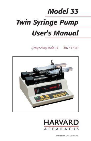 harvard apparatus syringe pump manual