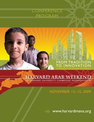 cOnference prOgram - Harvard Arab Alumni Association